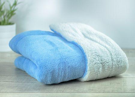 Matdox SHERPA-Fleece Decke blau