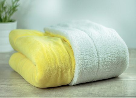 Matdox SHERPA-Fleece Decke gelb